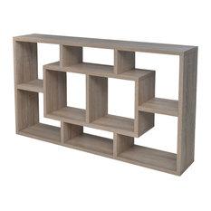 VidaXL Floating Wall Display Shelf, Oak, 8 Compartments, Oak