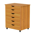 6 Drawer Wide Roll Cart