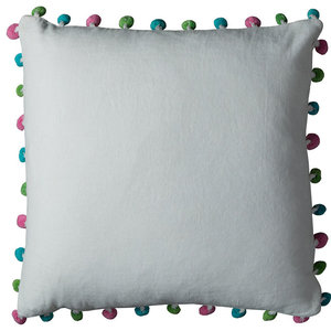 "Rizzy Home T10706 18""x18"" Throw Pillow With Zipper Closer"
