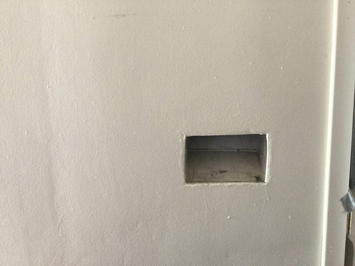 My New Home Exterior Mailbox Slot Is Great But The Wall Interior Is Not  Appealing. How Can I Frame This 6 X 9 Square Hole In My Wall? Thank You!