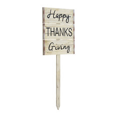 Silk Plants Direct Happy Thanksgiving Garden Stake, Set of 2