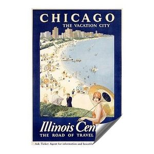 CGSignLab |Gulf Coast by Proehl Outdoor Contour Wall Decor Illinois Central | 18x27 5-Pack Vintage Poster