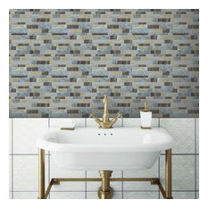 Blue Long Stone Tile Peel And Stick Backsplash