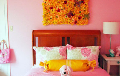 DIY Project: Frilly Floral for a Child's Wall