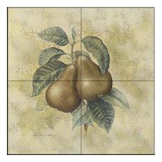 Tile Mural, Pears 2, 30.4x30.4 cm