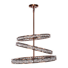 Imbrium Collection Contemporary Lighting, Brushed Copper