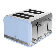 4-Slice Retro Toaster, Blue