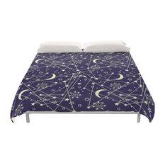 Blue Galaxy Space Duvet Cover, Full