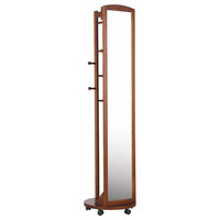 Tall Full Body Mirror, Roller Caster, Hanging Bar, Coat Stand, Coat Hooks