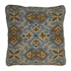 Throw Pillow Aubusson Medallion 22x22 Cream