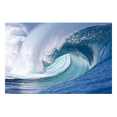 Perfect Tahiti Wave Break Wallpaper Wall Mural, Self-Adhesive