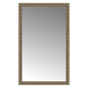 """37""""x59"""" Custom Framed Mirror, Distressed Silver"""