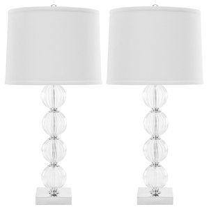 Safavieh Giulia Glass Table Lamps, Set of 2, White