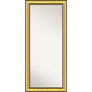 "Wall Mirror,, Vegas Burnished Gold Wood:25""x55"""