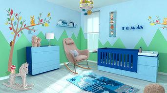 Dormitorio Bebé Bosque encantado