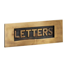 Letter Plate with Letters, 204mm, Antique Satin Brass