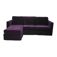 Los Encinos - Casa Reversible Chaise Sectional Sofa, Purple - Sectional  Sofas