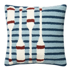 """Loloi Inc. Pillow, Navy and Red, 18""""x18"""""""