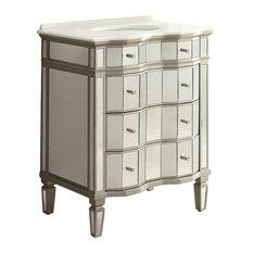 Chans Furniture 30 All Mirrored Elin Bathroom Sink Vanity Vanities And