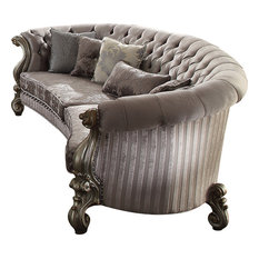 Versailles Sofa - Velvet, Antique Platinum, Large