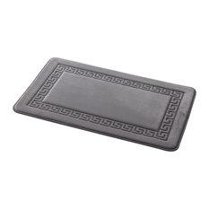 Memory Foam Grecian Bathroom Floor Mat, Grey