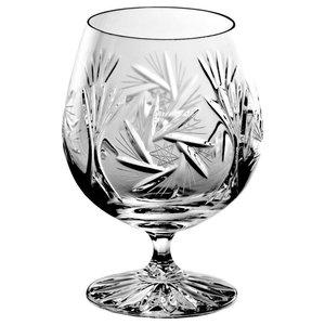 Monika Pinwheel Lead Crystal Cognac Glasses, Large, Set of 6