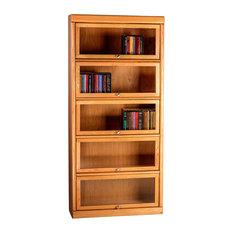 Bullnose Oak Lawyers Bookcase (5 Doors)