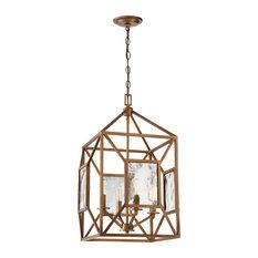 Athina 4-Light Pendant, Gilded Bronze
