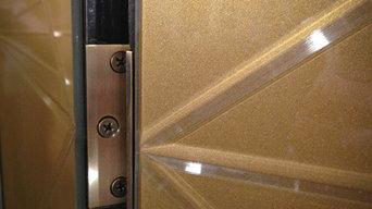 Custom Five Panel Decorative Screen with Antique Mirror