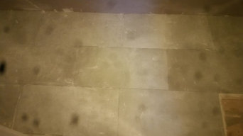 New 12 x 24 tiled floor , bathroom