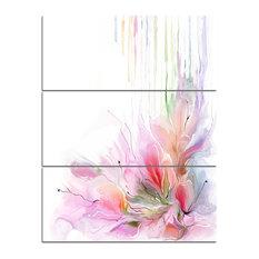 """Floral Composition"" Print on Canvas, 3 Panels, 28""x36"""