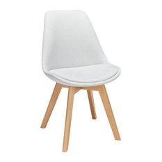 Light Gray Fabric Dining Chair Set Of 2