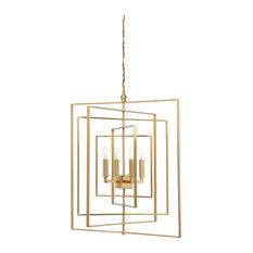 Chandelier Brass: Chelsea House - Chelsea House Cube Antique Brass Chandelier 68689 -  Chandeliers,Lighting
