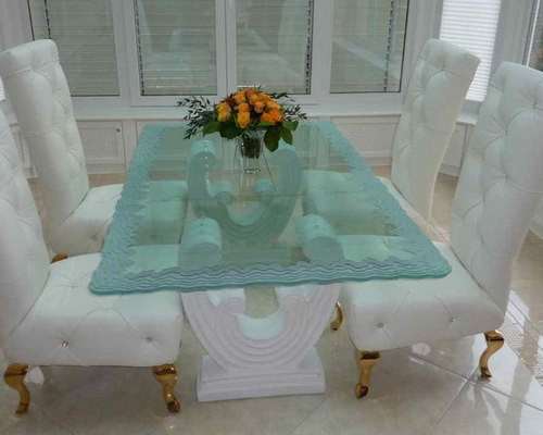 Glass Dining Table   Iceberg Edge   Dining Tables