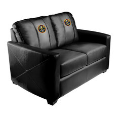 Denver Nuggets NBA Silver Love Seat With Primary Logo Panel