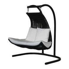 Misima Double Swing With Seat Cushion, Pure White, Natural