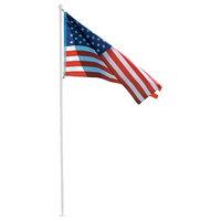 10' Flag Pole Kit With 3'x5' American Flag