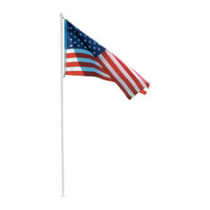 Markers, Inc. - 10' Flag Pole Kit With 3'x5' American Flag - Flags and Flagpoles