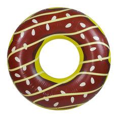 "49"" Chocolate Doughnut Inflatable Swimming Pool Inner Tube"