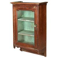 "32"" T Speranza Medicine Cabinet Hand Crafted Reclaimed Teak Antique Hand Crafted"