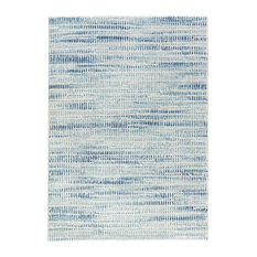 """7'10""""x10'10"""" Area Rug Rectangle Blue White Machine Made Power-Loomed"""