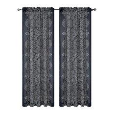 Bandhini Drapery Curtain Panels, Gray