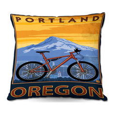 Portland Oregon Throw Pillow 16 X16
