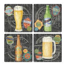 Craft Brew Stone Coasters, Set of 8