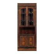 """Parker House Huntington 32"""" Glass Door Cabinet, Pecan"""