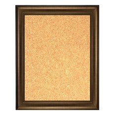 """Framed Cork Board 24""""x36"""", With Bronze Finish Frame With Triple Step Lip"""