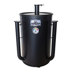 Drum Smoker,30 Gallon No Plate,Flat Black