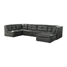 Furniture of America Onta Sectional in Gray