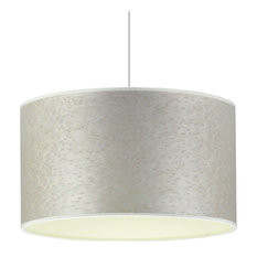 Pearl Grey and Cream Pendant Lampshade, With Accessories, 60 cm