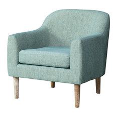 GDF Studio Bellview Fabric Retro Chair, Teal